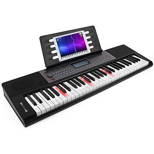 AKLOT Tastiera elettroniche per pianoforte 61 tasti Full Size Tasti per pianoforte Volume infinito 61 tasti Tastiera elettronica Altoparlanti integrati Cuffie Microfono…