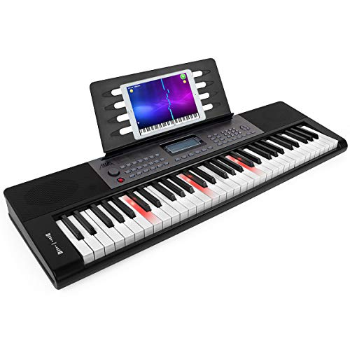 Piano Keyboard 61 Key, AKLOT Portable Full Size Piano Keys Infinite Volume 61 Keys Electronic Keyboard Built-in Speakers/Headphones/Microphone Interface for Adults Kids Beginners Professionals(AKP-1 )