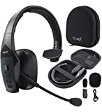 BlueParrott B550-XT Noise Canceling Bluetooth Headset with 300-FT Wireless Range & 96% Noise Cancellation for iOS and Android Bundle with Blucoil Headphones Carrying Case