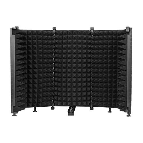 Elektronisches Zubehör, tragbarer Mikrofon-Isolationsschutz, verstellbarer Winkel, Schallabsorber, faltbare Abdeckung, Windschutz