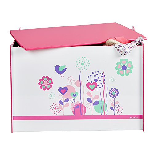 Spielzeugtruhe Worlds Apart Blumen und Vögel, weiß, 60×39,5×39,5cm - 2