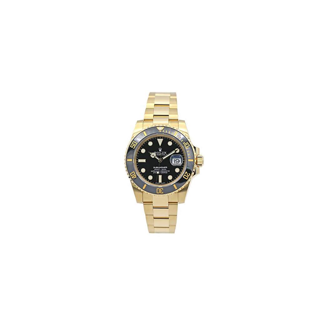 Fashion Shopping Rolex Submariner Yellow Gold Watch Black Dial Watch 116618