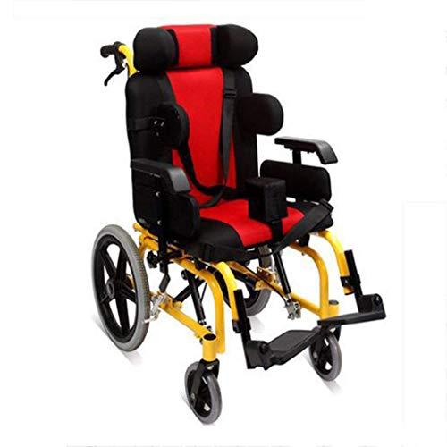 WZB - Wheelchair Selbstfahrender Rollstuhl für Kinder, Tragbarer Rollstuhl mit Eigenantrieb, Transportrollstuhl Faltbar, Medizinischer Rollstuhl Fahrend, Seniorenrollstuhl auf Reisen