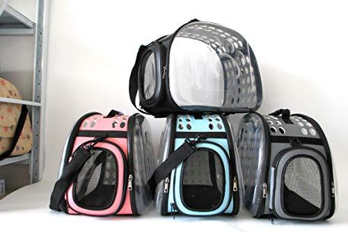 Y&Me Pet Carrier, Handbag Breathable Foldable Carrier Pet Bag, Transparent Cat Dog Bags with Handle, Shoulder Strap, Space Capsule Design for Travel, Hiking, Walking & Outdoor Use, 42×33×28.5cm