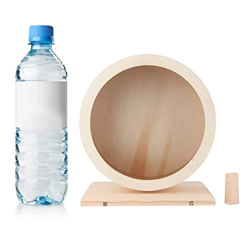 iFCOW Rueda de correr para hámster, soporte de madera silencioso, rueda de ejercicio para hámster, juguete para conejillo de indias, erizo, chinchilla