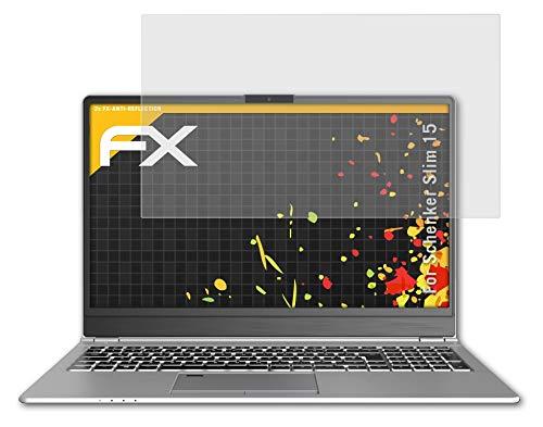 atFolix Panzerfolie kompatibel mit Schenker Slim 15 Schutzfolie, entspiegelnde & stoßdämpfende FX Folie (2X)