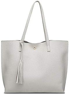 SUMOUMO Bag for Women Women'S Casual Shoulder Bag Handle Bag Bag 7 Colors Lady Big Capacity Purse Tassel Leather Female Bi...