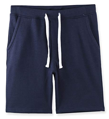 HETHCODE Mens Casual Athletic Fit Vintage Active Sports Jogger Gym Pocket Short Navy Blue M