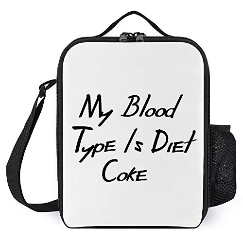 zhongmin My Blood Type is Diet Coke Best Gift Jigsaw Puzzle Portable Lunch Bag/Lunch Box/Lunch Tote/Picnic Bags Insulated Cooler Travel Organizer
