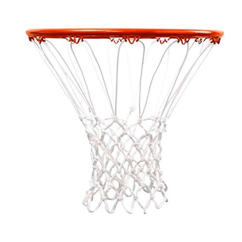 CDsport, Retina da Basket Professionale, Rete Canestro Basket, Anti-Sfilacciamento, Grandezza Regolamentare, in Nylon, per Canestri Standard, Ultra Resistente, 200gr