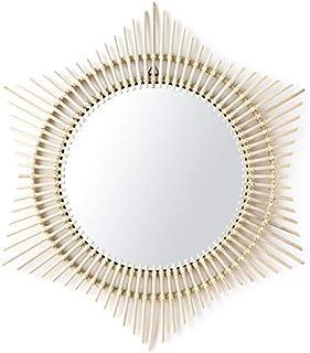 Kenay Home Jene Espejo Pared Decorativo Estrella, Ratán, 90x3x90 cm (Largo x Ancho x Alto)