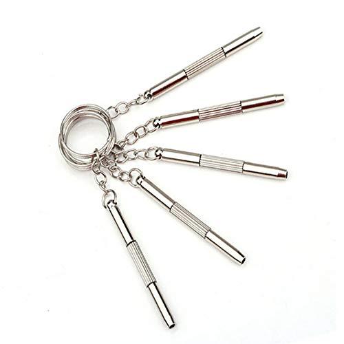 tyrrdtrd Cacciavite, Tre in Uno Multifunzione Cacciavite per Occhiali Mini Lega Hand Hand Lock Lock Portable Argento