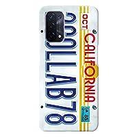 OPPO A54 ケース OPG02 ハードケース [薄型/耐熱/全面印刷] Numberplate (ホワイト) オッポ スマホケース スリム CollaBorn Oilshock Designs (オイルショックデザインズ)