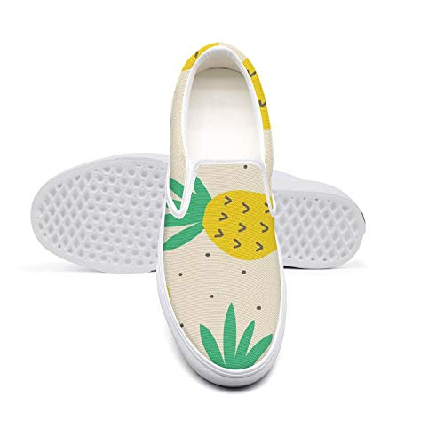 in budget affordable MENYOU2PI Men's & Unisex Funny Pineapple Pattern Canvas Shoes Retro Low Top Comfort Sneakers