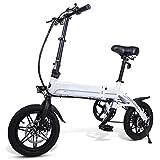 ligero plegable compacto eBike para ir al trabajo y tiempo libre de 16 pulgadas ruedas, tenedor delantero, pedaleo asistido de bicicletas 250W 36V, con faros LED y display, 3 Modos de Conducción