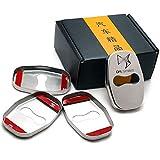 XCBW Cubierta de Cerradura de Puerta de Coche de Acero Inoxidable, para Citroen DS DS4 DS5 DS 5 LS DS6 DS3 Todos los Modelos, Accesorios Decorativos, 4 Piezas