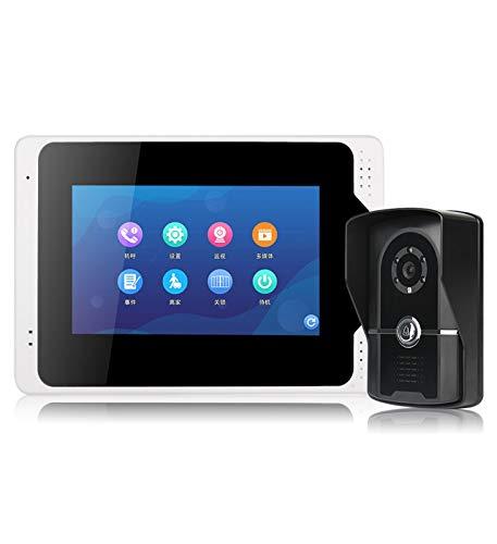 XXHDEE Cámara de Timbre de Video inalámbrico 1080p, detección de Movimiento, 120 ° de Gran Angular, visión Nocturna, Seguridad de Audio de 2 vías y fácil instalación