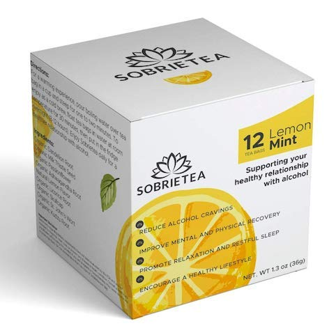 Sobrietea | Anti-Alcohol & Alcohol Support Supplement Tea | Organic Supplement to Reduce Cravings and Detox Liver - Kudzu Root, Dandelion Root, Milk Thistle, Passionflower and More