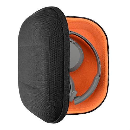 Geekria Tasche Kopfhörer für AKG K450, Q460, K420, K430, Skullcandy Riff, Lowrider, HD219, HD229, Hard Tragetasche, Schutztasche für Headset Case (Schwarz)