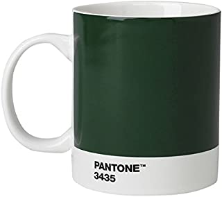Pantone Porcelain Mugs 375 ml, Porcelain, Dark Green 3435, 8.4 x 8.4 x 12.1 cm, 101033435