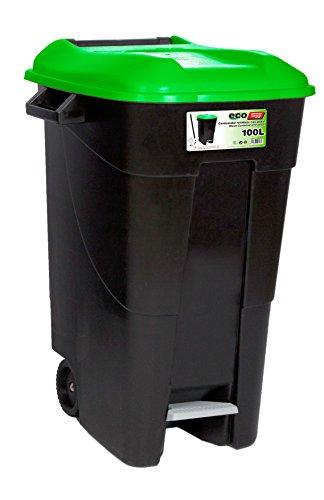 Tayg T-421037 Eco - Contenedor de Residuos Eco , color Verde, 100 L