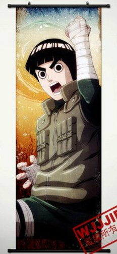 Naruto Home Decor Rock Lee Cosplay Wall Scroll Poster 49.2 X 17.7 Inches-485