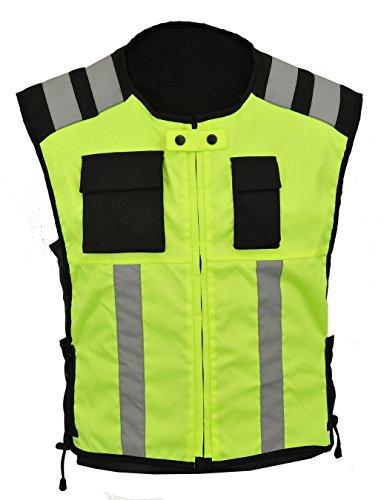 Gearx Warnweste für Motorrad- oder Industrie-Sicherheitskleidung, XL, Grün