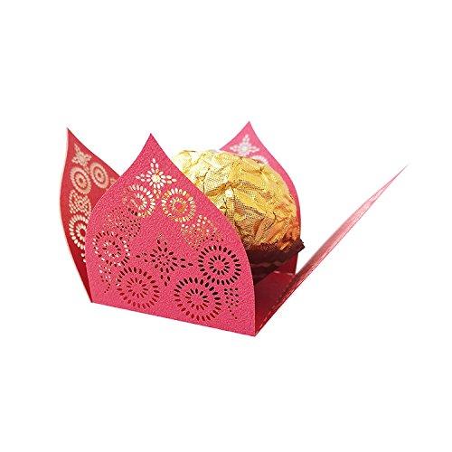 La fodera della torta del muffin della cassa di involucri della bolla del bigné di carta della tazza della torta della spazzola di carta di cioccolato vuota 50pcs per la decorazione della torta del partito di compleanno di cerimonia nuziale