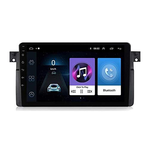 Navegación GPS Reproductor Multimedia De 9 Pulgadas para BMW E46 M3 318/320/325/330/335 Rover 75 1998-2006, FM/Bluetooth/WiFi/SWC/Mirror Link/Cámara De Visión Trasera,4 core-4G+WiFi: 2+32G
