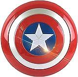 MOMAMOM Escudo Capitan America con Sonido Y Luz Plastico Juguete Apoyos De Película Niños Capitán América Shield Disfraz Creative Bar Decoración Reloj De Pared Navidad Halloween 32Cm