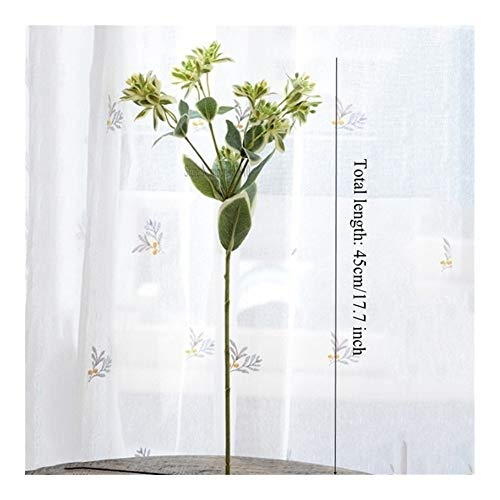 1 PCS/Künstliche Pflanzen Alpine Grün Simulation Pflanze Bouquet Hochzeit Dekoration Home Hotel Bankett-Garten-Dekoration Dried flower (Color : 1 pcs)