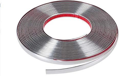 Chromband 15 Meter | 6mm 8mm 10mm Breite wählen | Chromleiste Selbstklebend für Auto PKW Styling (6mm x 15meter)