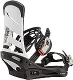 BURTON Mission Mens Snowboard Bindings Sz M (8-11) White/Black