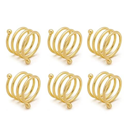 xllLU 6 anillos de servilleteros redondos con hebillas para bodas, cenas, fiestas, decoraciones de mesa de bodas, servilletas