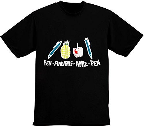 Pen-Pineaple-Apple-Pen Illustration Men's T-Shirt Medium