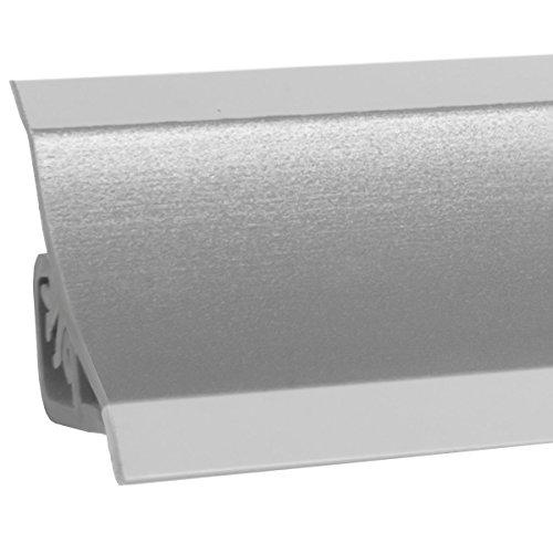 HOLZBRINK Küchenabschlussleiste Alu Satin Küchenleiste PVC Wandabschlussleiste Arbeitsplatten 23x23 mm 150 cm