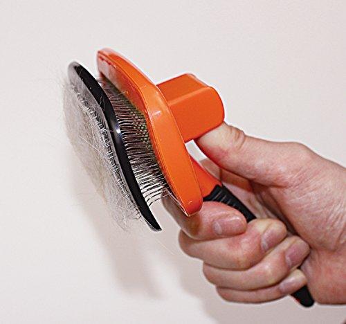 ドギーマンイージープロ掃除簡単クッションスリッカーブラシMサイズ