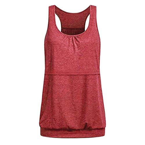Goosun Camiseta de Lactancia sin Mangas, Holgada, cómoda, con Camisa de Maternidad de Mujer, Blusa de Tirantes para Invierno Verano Primavera otoño