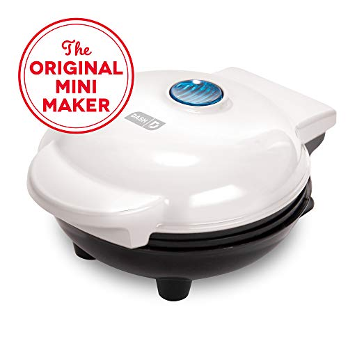 Dash DMS001WH Mini Maker Electric Round Griddle for Individual Pancakes, Cookies, Eggs & other on...
