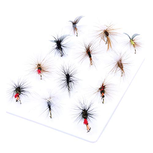 ANCLLO 12 piezas de clasificación superior seco/ninfa/serpentina mosca pesca mosca trucha mosca surtido