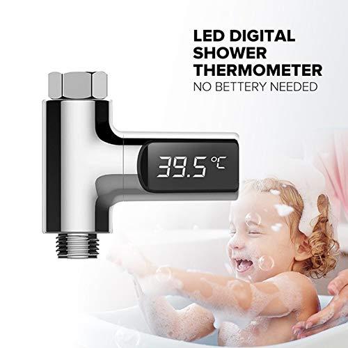 ACC Termómetro Llevado Digital del Grifo de la Ducha del hogar de...
