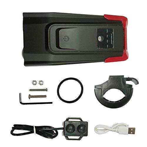 Fahrradbeleuchtung Induktions-Fahrrad-Scheinwerfer mit USB aufladbare Smart Scheinwerfer und 800 Lumen LED-Fahrradlicht-Cycle-Flash Horn dljyy