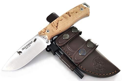 J&V Knives Cuchillo Bushcraft Supervivencia Supervivencia Camping Outdoor Campo Caza Monte -...