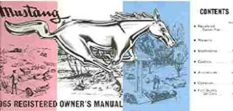 1965 Ford Mustang Owners Manual