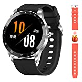 Blackview Smart Watch for Men, Full Touch Screen Activity Tracker with Heart Rate Sleep Monitor, 5ATM Waterproof Fitness Smartwatch with Pedometer Stopwatch, Men Sport Watch for iPhone Android Phone