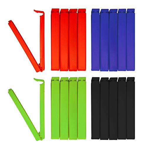 Unbekannt Colorado Tütenclips (20 Stück) | 20 Verschlussclips/Beutelklammern/Clips, jeweils 5 Stück in den Farben rot, grün, blau und schwarz sowie mit 11 cm Länge Cliptastisch funktionale Qualität