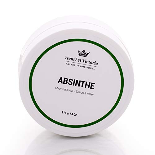 Shaving Soap for Men | Absinthe Wet Shave Soap Fragrance | Made by Skilled Artisans | Ultra Glide, Cushioning, Easy Lather, Moisturizing | Chic and Subtle Scent | 4 oz