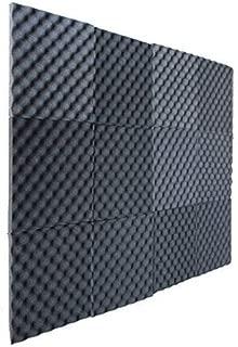 12 Pack Charcoal Slim egg crate foam acoustic foam tiles soundproofing foam panels sound insulation soundproof foam padding sound dampening Studio sound proof padding 1