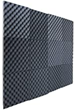 12 Pack Charcoal Slim egg crate foam acoustic foam tiles soundproofing foam panels sound insulation soundproof foam padding sound dampening Studio sound proof padding 1