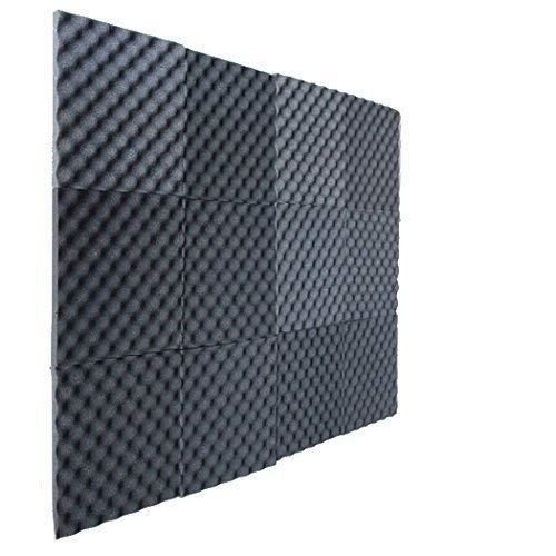 12 Pack Egg Crate Foam Charcoal 1 Inch x 12 W x12 L Acoustic Foam Panels Recording Studio Foam